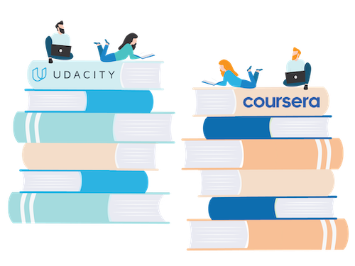 Udacity vs Coursera banner
