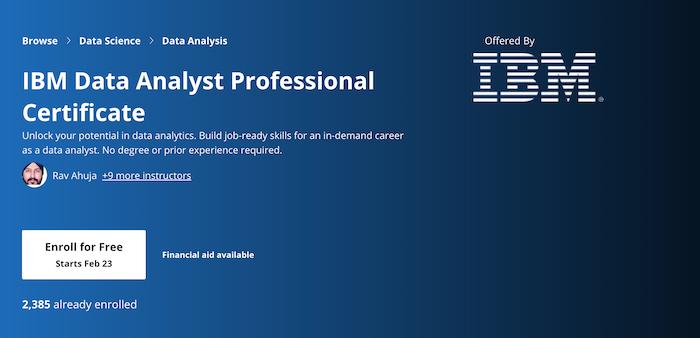 Data Analyst Coursera Courses