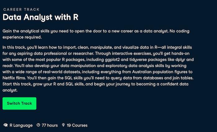 Data Analyst Datacamp Courses