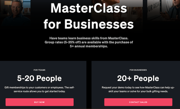 MasterClass for Business
