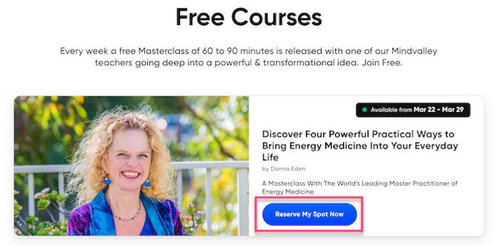 Free Mindvalley Courses