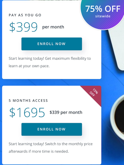 Udacity become data enginner cost