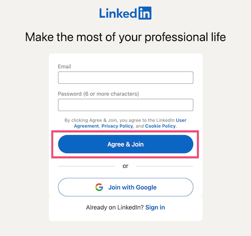 LinkedIn Learning account sign up