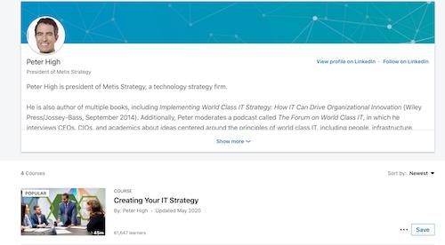 LinkedIn Learning Instructor