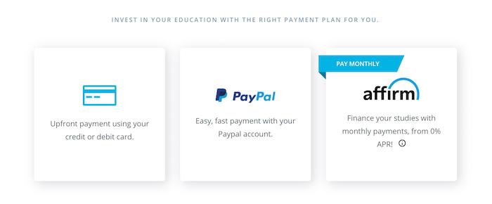 Udacity Payment Method