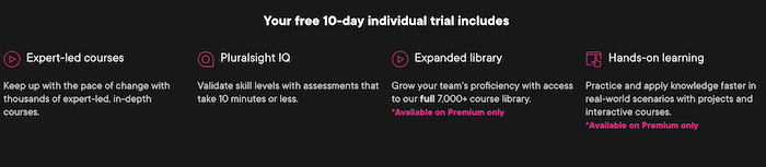 Pluralsight 10-day Free Trial