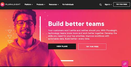 Pluralsight Homepage