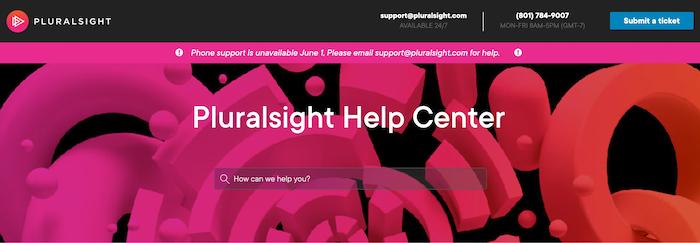 Pluralsight support