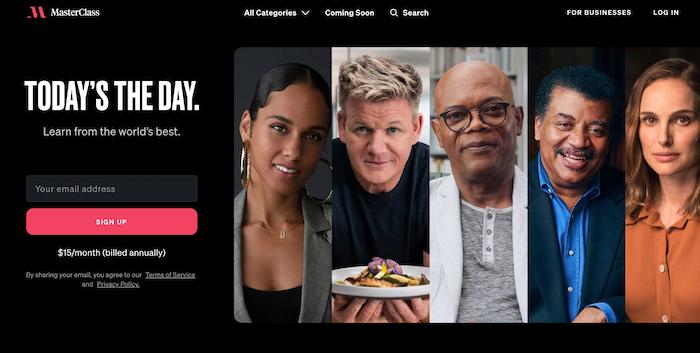 MasterClass Celebrity Platform