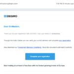 degiro open account step 4